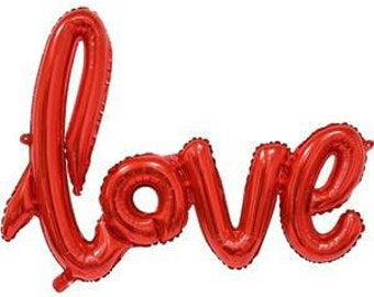 Red 'Love' Balloon