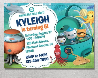 Octonauts Invitation, Octonauts Birthday, Octonaut Party Invite, Octo Alert Card Printables, Printable Invitation, Captain Barnacles Invites