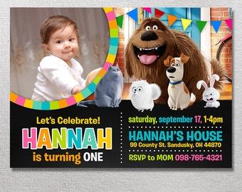 The Secret Life of Pets Invitation, Secret Life of Pets Birthday Invites, Pets Party Invite, Card Printables, Movie Printable Invitations