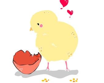Vector little Cicken - Digital Illustration // little animals collection