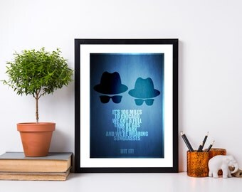 The Blues Brothers - Minimalist Poster - Movie Print