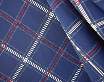 Blue Tartan Print Polyester