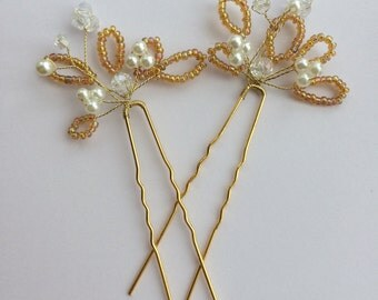 Set of 2 wedding hair pins