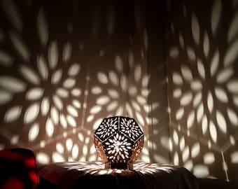 Garden / shadow lamp /wood lamp