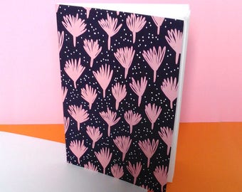 Leaves printed notebook A5