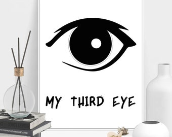 My third eye-svg-png-eps-ai-pdf-Cut File - Silhouette-Eye SVG-Intuition SVG-Sixth sense SVG