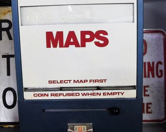 MAP VENDING MACHINE...Vintage Gas Station Equipment...All Mechanical...Non-Electric