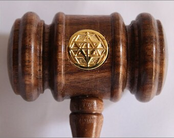 Martinist gavel for lodge or heptad or for special magic or theurgic rituals