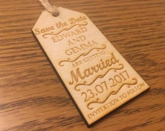Custom Save the Date wedding cards