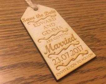 Custom Save the Date wedding cards