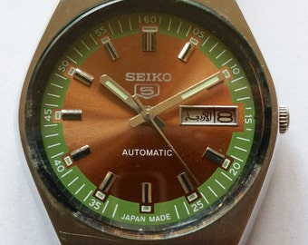 "Seiko ""5"" Dress Watch 6306-566b movement, Vintage man's watch   rolex,cartier,IWC,panerai,jaeger LeCoultre. longines, selling to buy a Rolex"