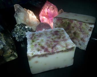 Organic Handmade Shea Butter Soap With Lavender, Rosemary and White Sage