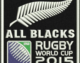 "All Blacks Logo Embroidery Design  4""x4"" and 5""x7"""