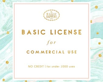 Basic Commercial License for Commercial Use of Patterns, Graphic Design
