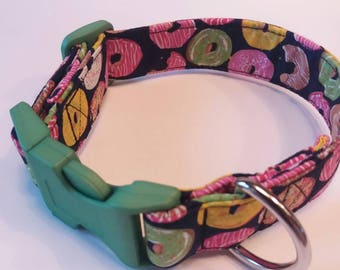 Doughnut dog collar, Bespoke dog collars, Handmade dog collars Dog collars UK Unique dog collars Fabric dog collars High quality dog collars