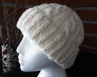 Cable & Cuff Knitted Hat