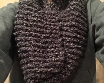 Grey & Black Scarf One Wrap