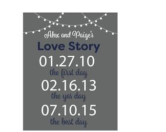 Custom Love Story Sign