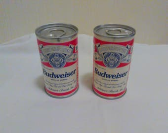 Vintage Budweiser Mini Beer Can Containing two golf balls