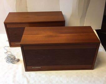 Haut-parleurs vintage Tandberg teak speakers