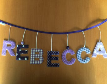 Name chain letter chain name Garland from 3 letters