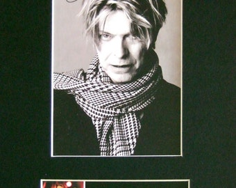 DAVID BOWIE Mounted Signed Photo Reproduction Autograph Print A4 66