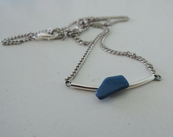 Hand made chain necklace with stone