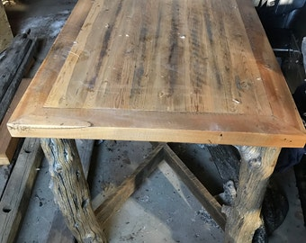 Reclaimed Cedar Post Table