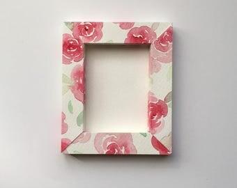 Magnet, flower frame, small gift, customizable 9.5 x8