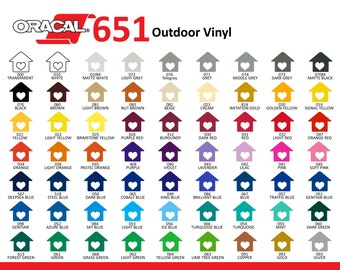 Vinyl Oracal 651-Permanent-Outdoor Vinyl-Decal Vinyl