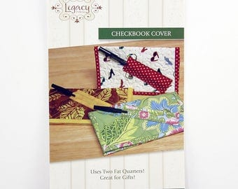 Quilted Checkbook Cover Pattern, Pen Holder, Use Two Fat Quarters, Great Gift Idea, By Legacy Patterns