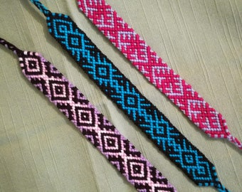 Braided azect bracelet, Woven bracelet, Wrist band, Handwoven bracelet, Knotted bracelet, String bracelet, Macrame, Friendship bracelet
