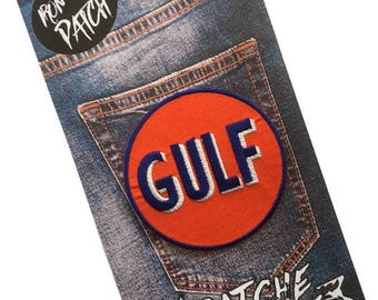 Gulf Embroidered Iron On Patch