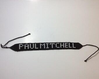 Handmade Paul Mitchell bracelet