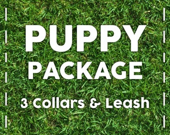 Puppy Package - Leash and Collar Set for your growing puppy, Collars that grow with your puppy, Collar and Leash Set