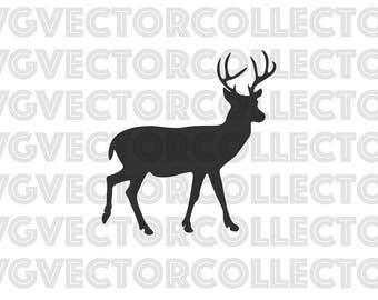 Buck Deer, SVG DXF EPS PnG, Clip Art, Instant Digital Download