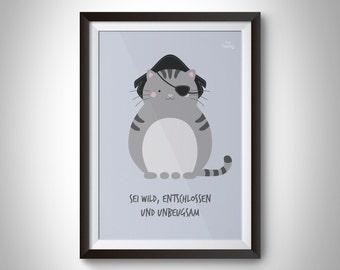 A3 poster cat pirate