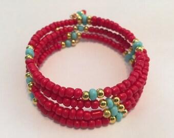 Southwest Themed memory Wire Bracelet