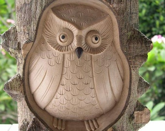 OWL OWL wooden crocodile Wood Owl