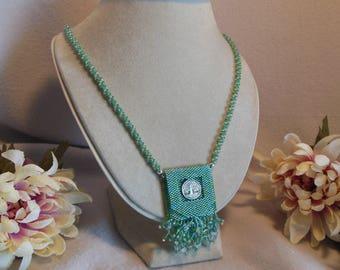 Green w/Tree Amulet Bag