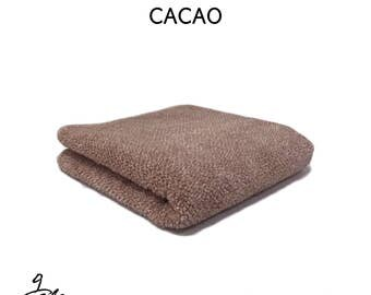 "Natural dyed towel with ""CACAO"""