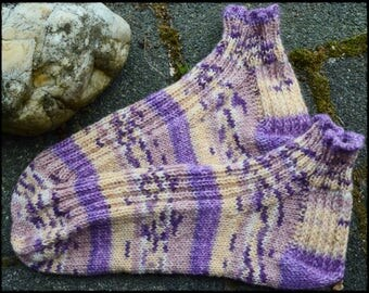 Summer sneaker socks hand knitted size 38/39