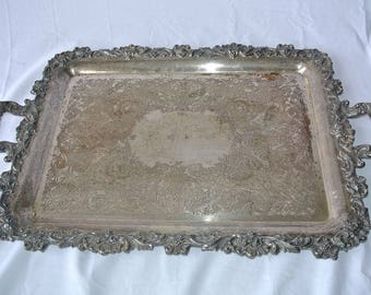 Silverplated and Pewter Tray