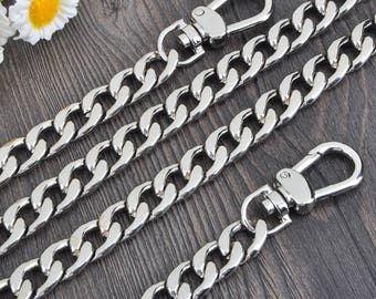 12mm silver Chain Strap purse strap handles bag hadnbag Purse Replacement Chains Purse Finished Chain straps High Quality