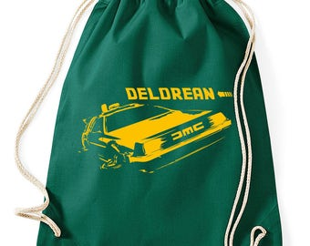 DeLorean back to the future gym bags