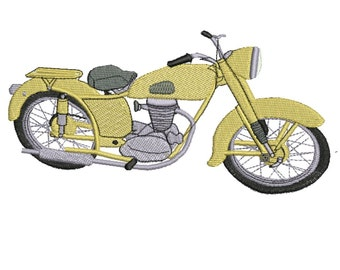 Motorcycle 1941 embroidery pattern