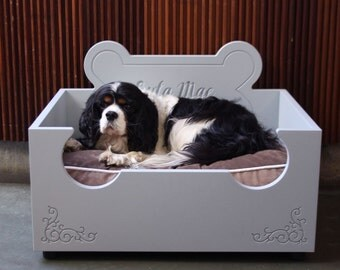 Luxury Personalised Wooden Dog bed