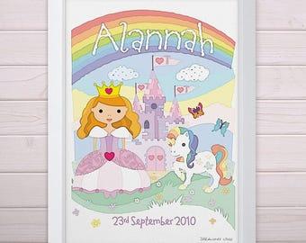 Personalised Little Princess Print