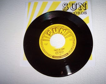 Elvis Presley Sun record #209 and sun sleeve thats all right blue moon of kentucky mint never played