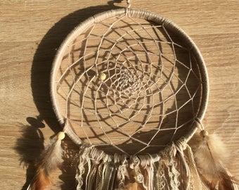 DreamCatcher Nature, sensor of dreams woven by hand, elegant Decoration, catches dreams delicate.
